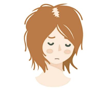 髪がゴワゴワ