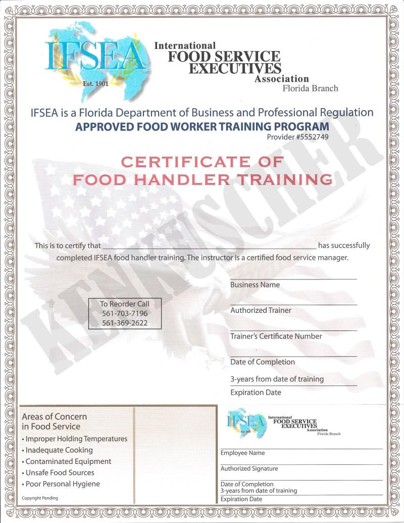 Servsafe food handler certificate foodfash 4 00 florida food handler certificates xflitez Gallery