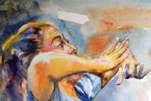 Flamenco dancer Choni Garzia expressive expression
