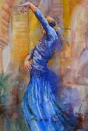 Flamenco dancer painting