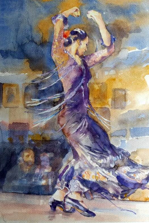 flamenco movement passionate disply