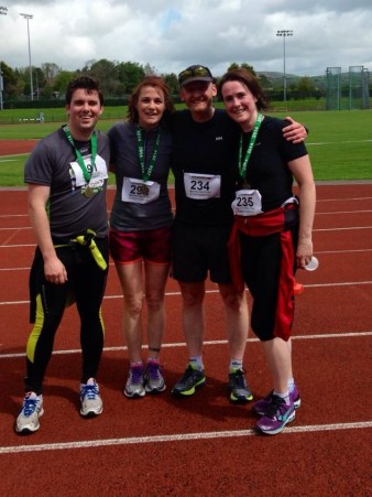 Running Casleisland 10 mile road race with Michelle Galvin and Joe Burke.