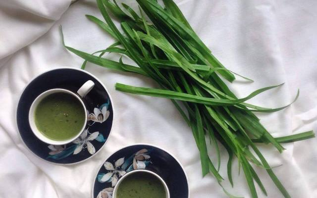Wild Leek and Potato Soup