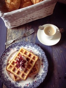Waffles are a favourite on a Sunday morning :)