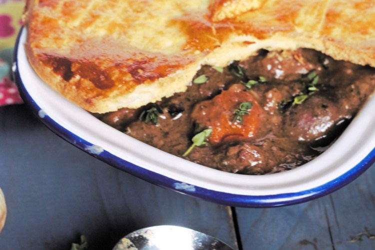 Steak and Kidney Pie with Black Garlic and Thyme