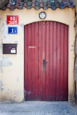 Simple red door