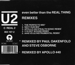 U2 - Even Better Than The Real Thing (Remix)