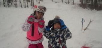雪、降ってま〜す!