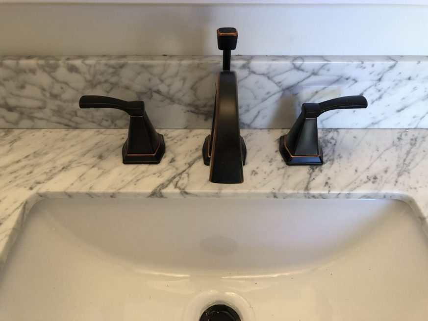 Luxury white and grey bathroom