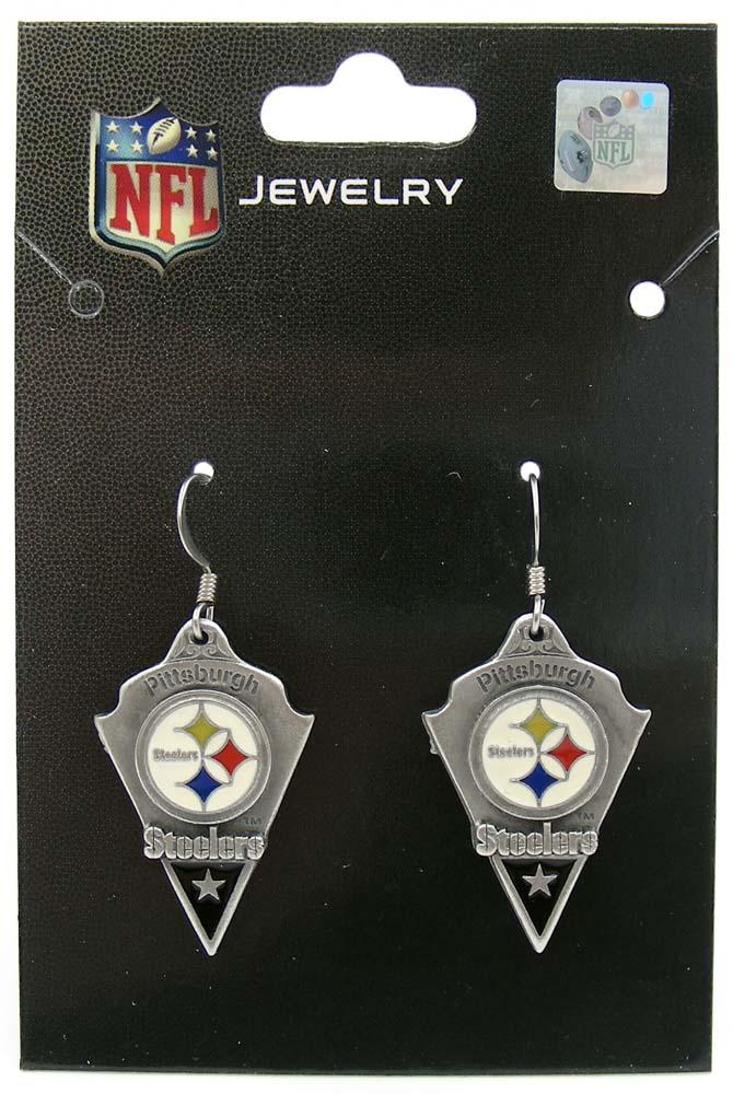 Pittsburgh Steelers NFL Football Dangle Earrings Pendant