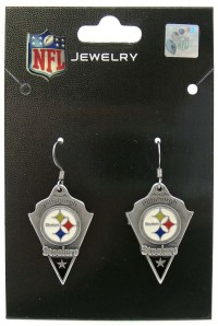 Pittsburgh Steelers NFL Football Dangle Earrings Pendant