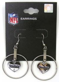 Pittsburgh Steelers NFL Football Dangle Earrings Steelers ...