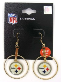 Pittsburgh Steelers NFL Football Dangle Earrings Steelers
