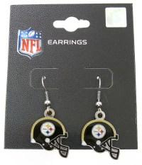 Pittsburgh Steelers NFL Football Dangle Earrings Black ...
