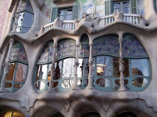 Casa Batllo facade close up