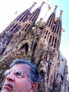 Sagrada Familia nativity facade selfie