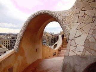 Casa Mila roof passage