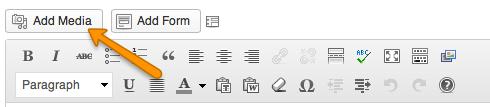 WordPress Add Media Button