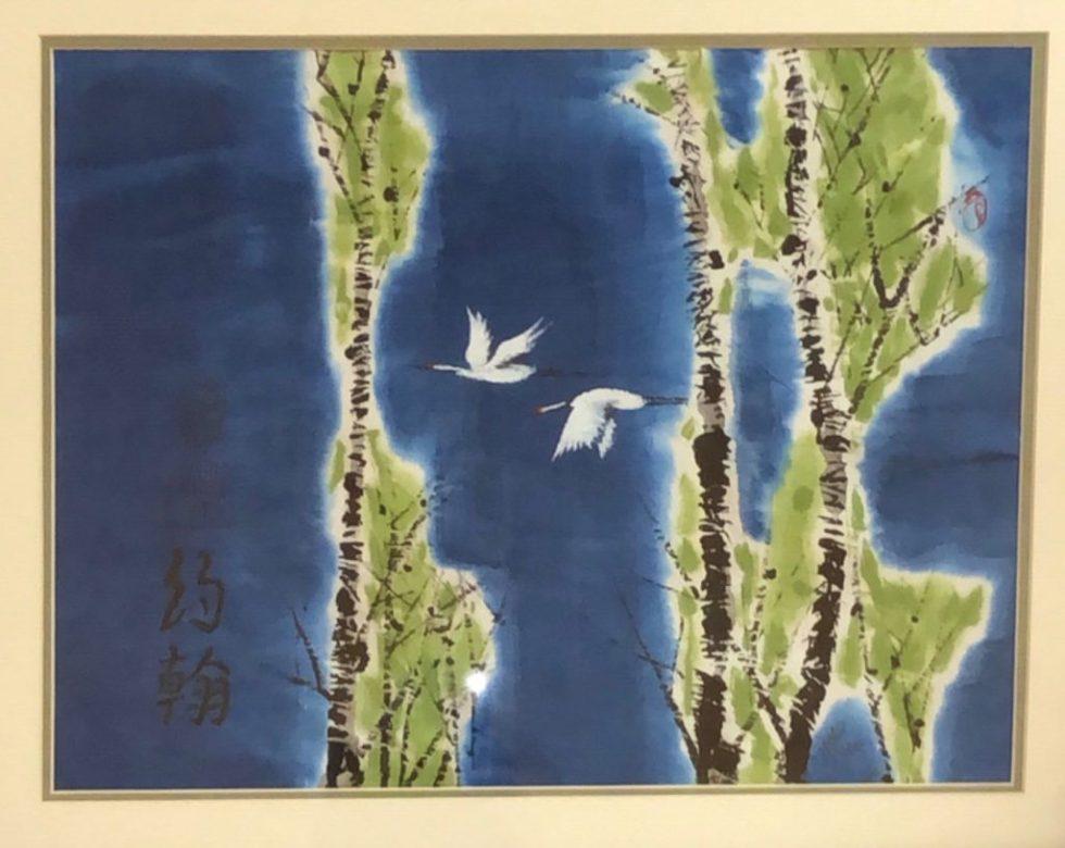 Two Cranes in Flight China Series - John Eder