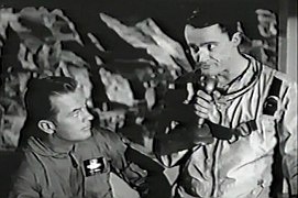 Robert Vaughn (right) in Men Into Space