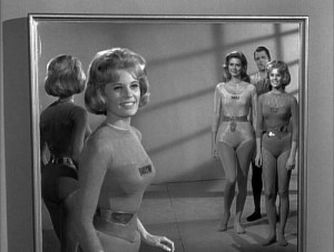 Richard Long (rear) in the Twilight Zone episode, Number 12 Looks Just Like You.