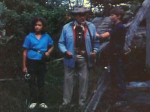 Robert Allen (center) in Raiders of the Living Dead