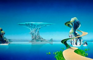 Roger Dean artist of so many album covers including Yes, Uriah Heep, Asia and more.