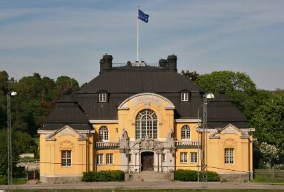 Haga Tingshus, numera Hagströmerbiblioteket. Foto: Christer Joelsson, Solna stad.