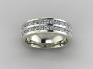 Two-Row Channel set Anniversary Band