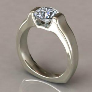Tension Set Engagement Ring