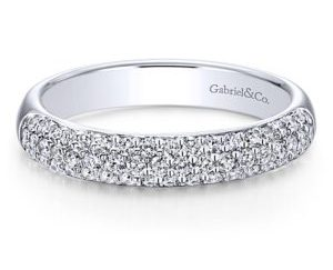 gabriel 1 - 14k White Gold Round Straight Wedding Band