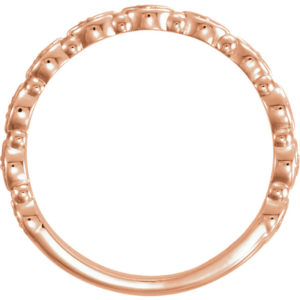 sts123124tf - 14K Rose Gold Three Row Stackable Ring