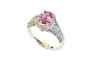160 100083 1 - Vintage Pink Sapphire Diamond Ring