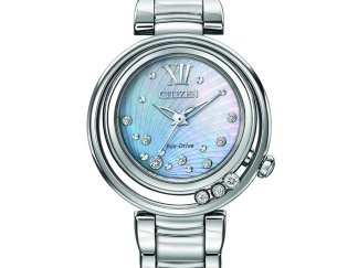 EM0320 59D AdShot 1024x1024 - Citizen L Sunrise Eco-Drive Diamond Watch - Stainless Steel - Blue MOP