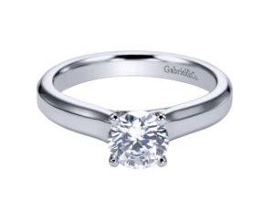 ER6583W4JJJ 1 e1506981721808 - 14K White Gold Round Solitaire Engagement Ring