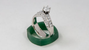 Wave Engagement Ring