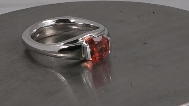 Sunstone Tension-Set Ring