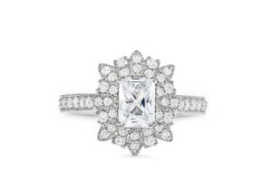 S10186 - Starburst Engagement Ring