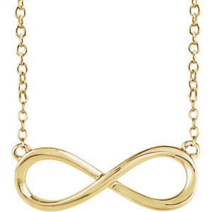 sts85947y - Gold Infinity Necklace