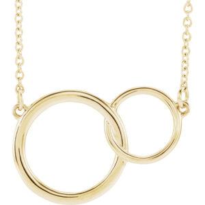 sts86742y - Interlocking Circle Necklace