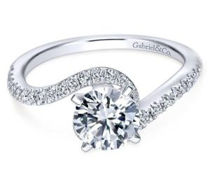Gabriel Adina 14k White Gold Round Bypass Engagement RingER7232W44JJ 11 - 14k White Gold Round Bypass Diamond Engagement Ring