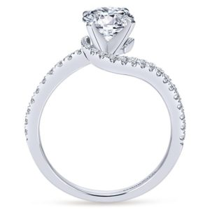 Gabriel Adina 14k White Gold Round Bypass Engagement RingER7232W44JJ 21 - 14k White Gold Round Bypass Diamond Engagement Ring