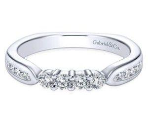 Gabriel Platinum Contemporary Straight Wedding BandWB3993PT4JJ 11 - Straight Diamond Wedding Band