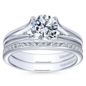 Gabriel Selah 14k White Gold Round Solitaire Engagement RingER7516W4JJJ 41 - 14k Round Solitaire Engagement Ring
