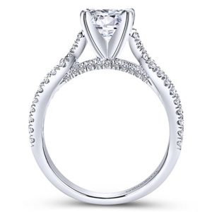 Gabriel Alicia 14k White Gold Round Twisted Engagement RingER7544W44JJ 21 - 14k White Gold Round Twisted Diamond Engagement Ring