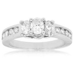 WC2749 - 14k White Gold Curved Diamond Wedding Band