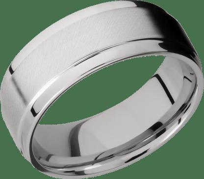 CC8FGEW FINISHANGLE SATINPOLISH IMAGE0011 - Cobalt Chrome Angle Satin Polish Men's Ring