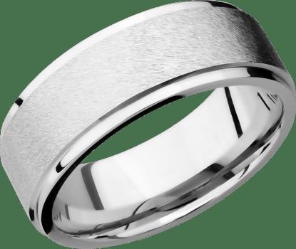 CC8FGE FINISHANGLE STONEPOLISH IMAGE0011 - Cobalt Chrom Angle Sating Finish Men's Ring