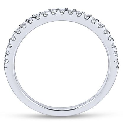 Gabriel 14k White Gold Contemporary Curved Wedding BandWB7482W44JJ 21 - 14k White Gold Curved Diamond