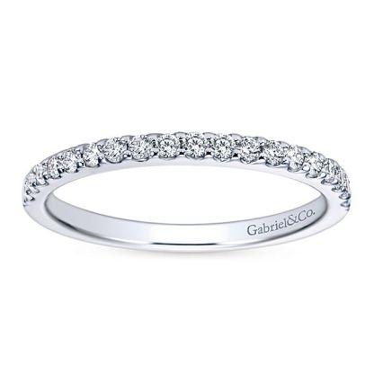 Gabriel 14k White Gold Contemporary Straight Wedding BandWB7510W44JJ 51 - 14k White Gold Round Straight Diamond
